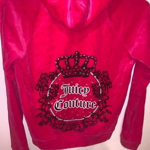 Juicy Couture Kids Large Zip Up Hoodie